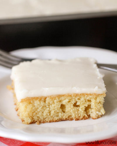 White Chocolate Texas Sheet Cake