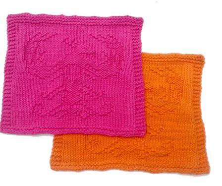 Knit And Purl Phoenix Dishcloth Pattern Allfreeknitting