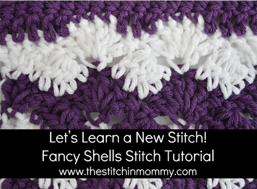 Fancy Shells Stitch Tutorial and Granny Square Pattern