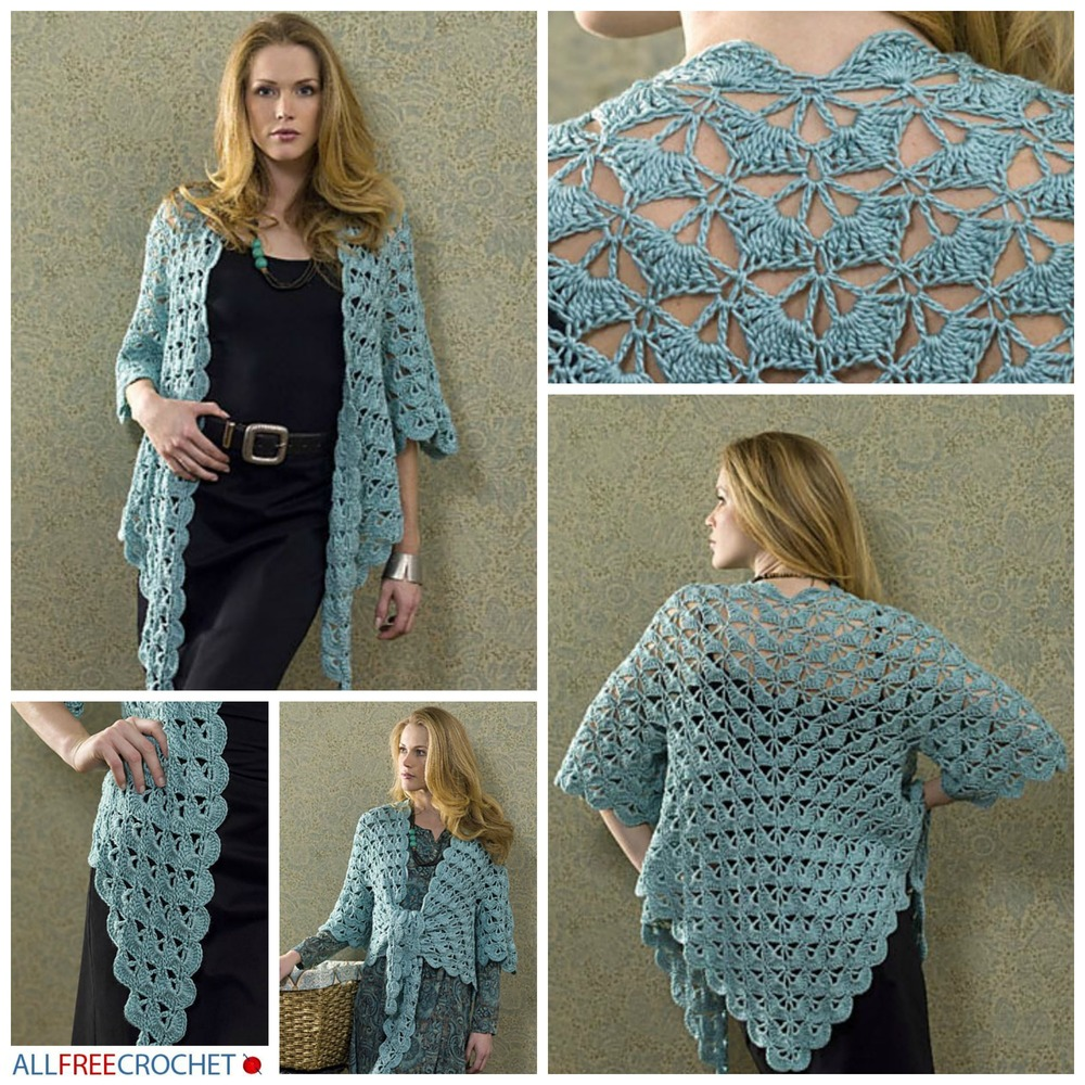 56 Easy Crochet Cardigan Patterns | AllFreeCrochet.com
