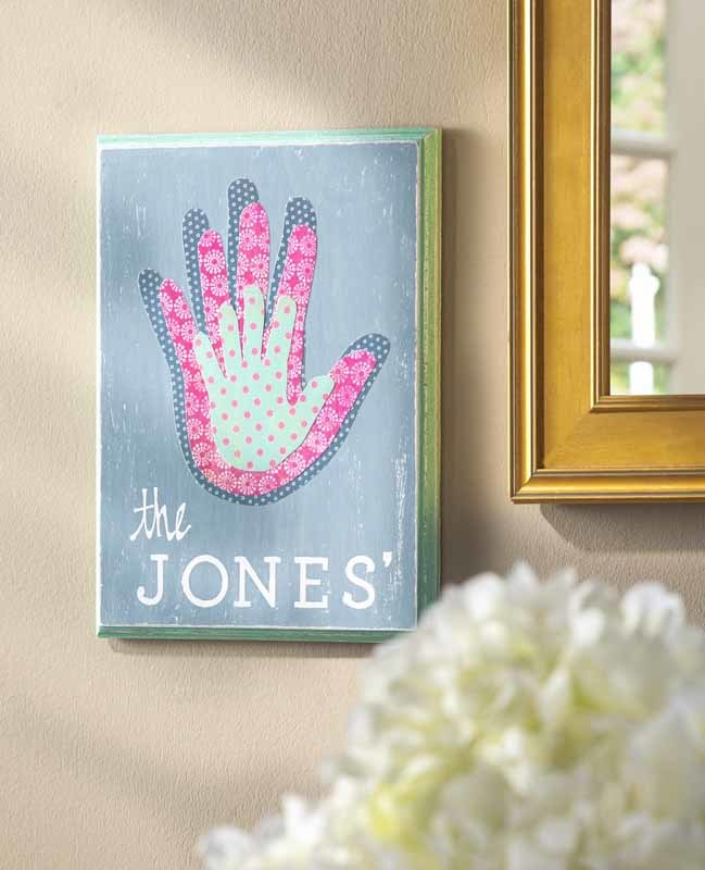 Family Handprint Canvas Favecrafts Com