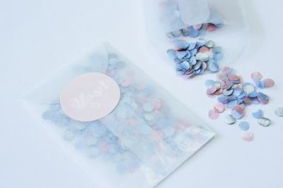 Metallic Confetti Wedding Ceremony Send Off