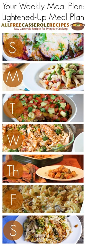 Lightened-Up Weekly Meal Plan