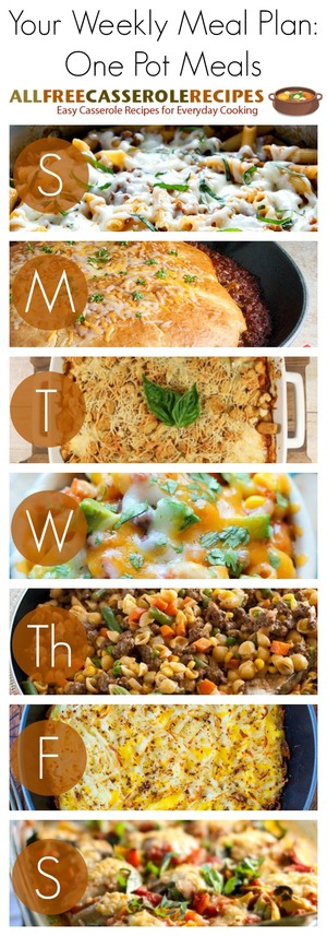 One Pot Weekly Meal Plan