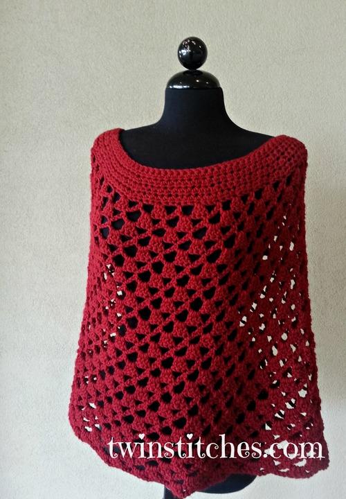 Scarlett Spiral Crochet Poncho Allfreecrochet
