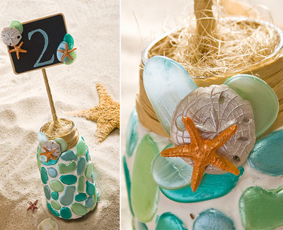 Mason Jar Beach Wedding Table Numbers Favecrafts Com