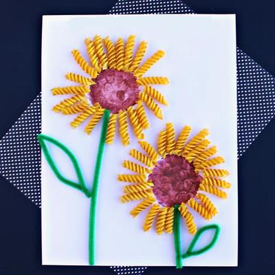 Noodle Art Spring Craft