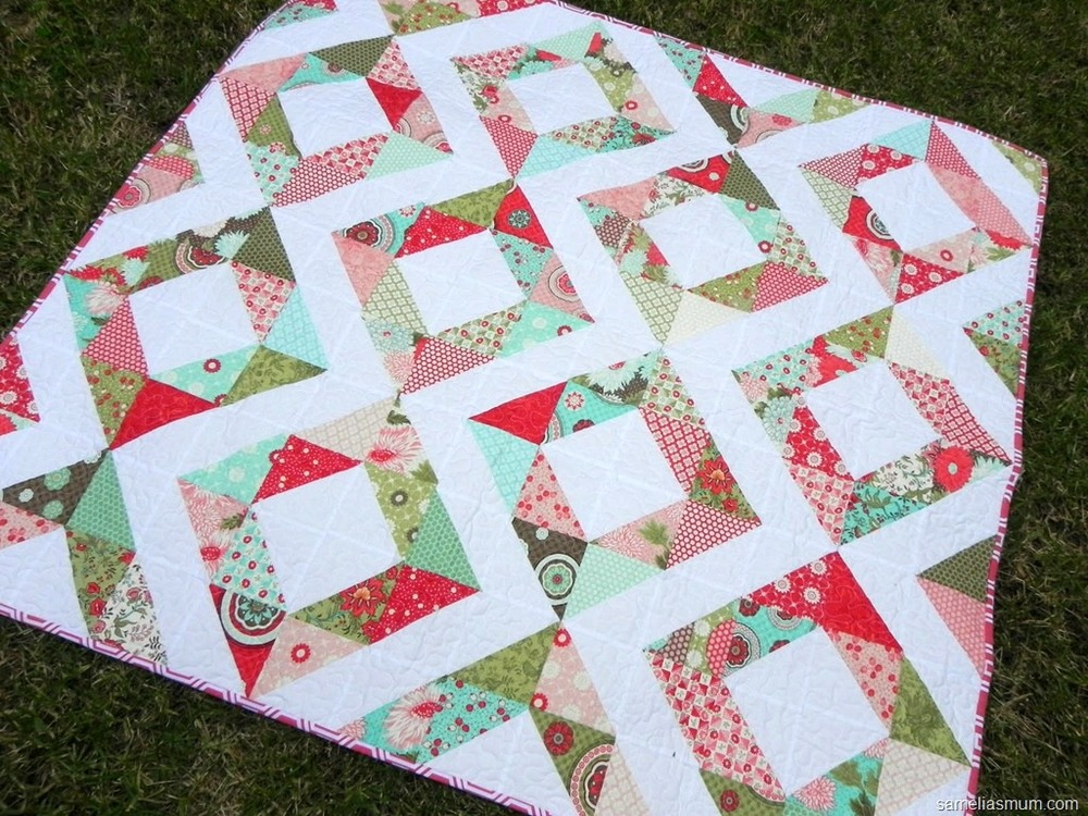 Fresh Diamonds Quilt Favequilts Com