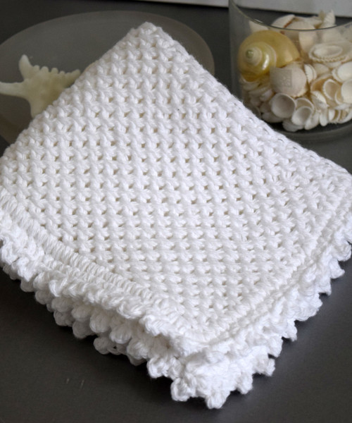 Picot Edge Knit Dishcloth Pattern Favecrafts