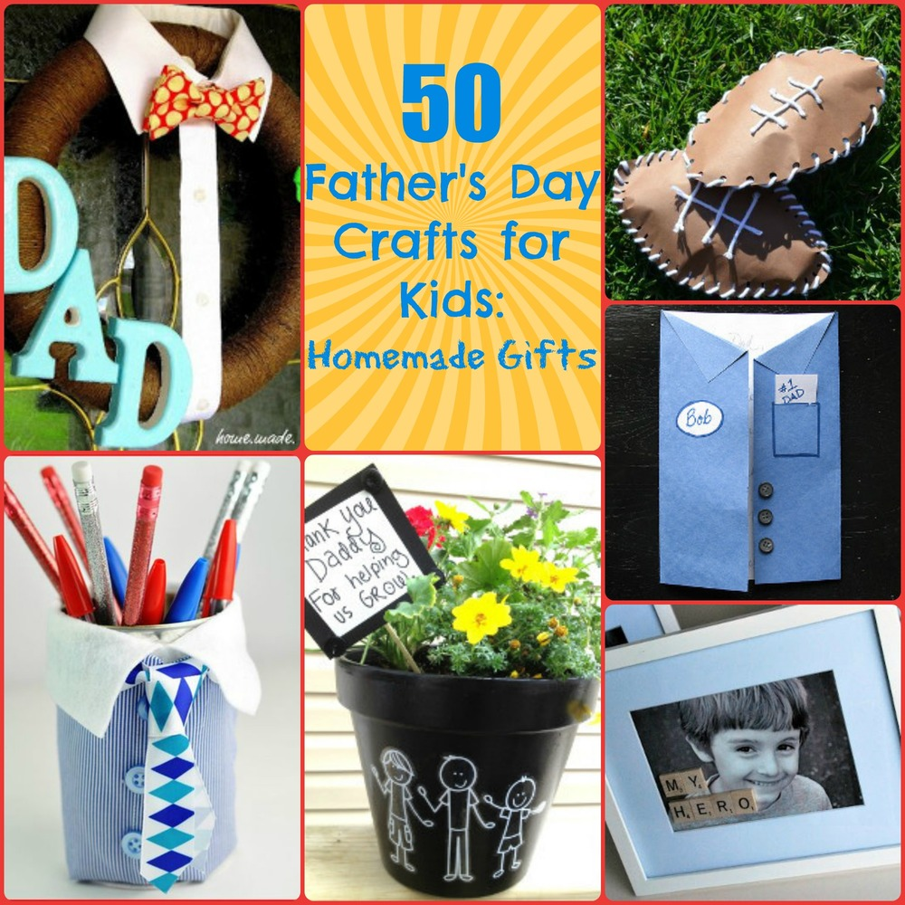 50 father 39 s day crafts for kids homemade gifts. Black Bedroom Furniture Sets. Home Design Ideas