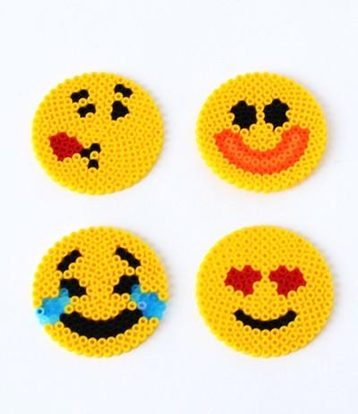 Fun Emoji Perler Bead Patterns AllFreeKidsCrafts Cool Melty Bead Patterns
