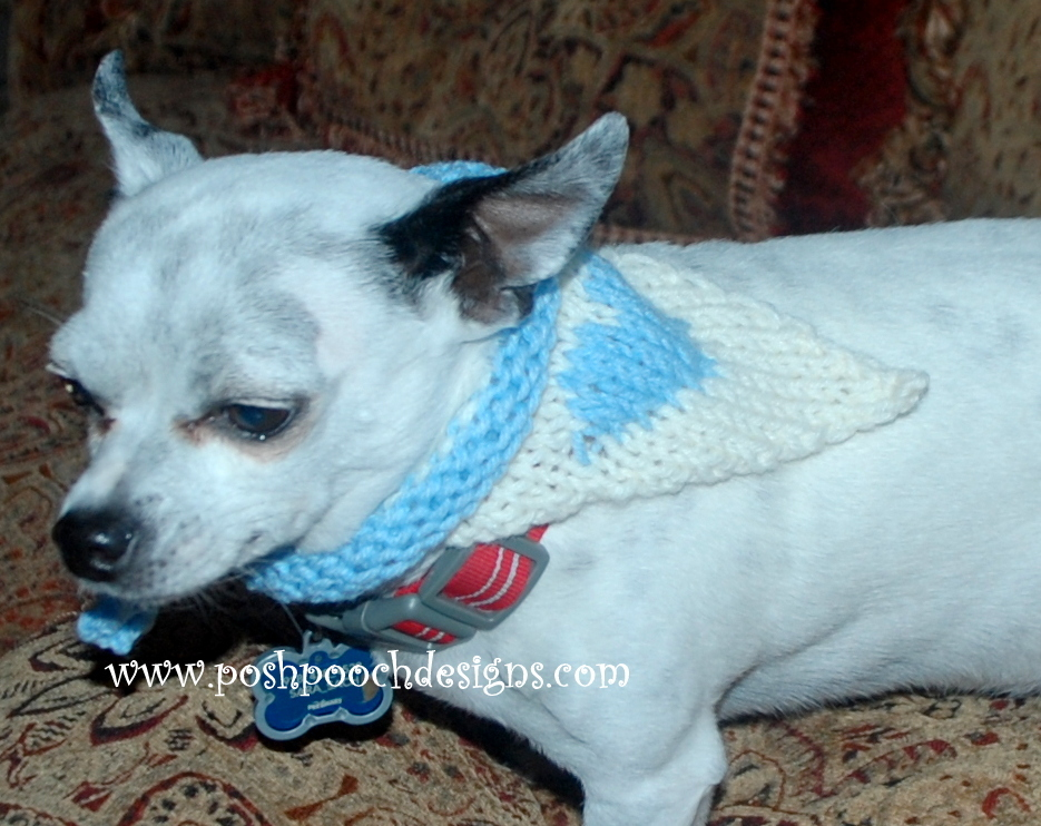How To Knit A Heart Dog Bandana Allfreeknitting