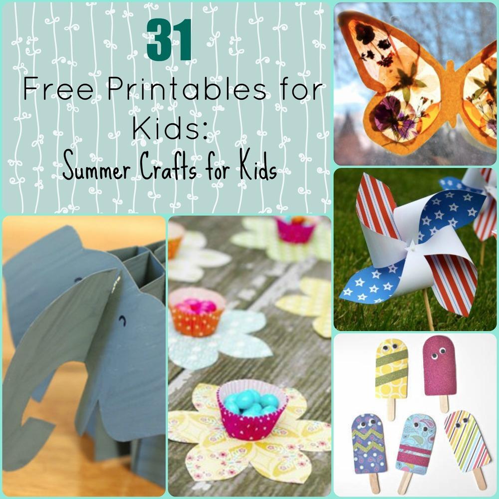 31 Free Printables For Kids Summer Crafts
