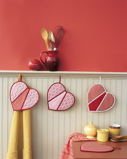 Heart Shaped Pot Holders