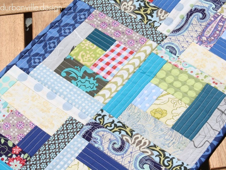 Quilt As You Go Log Cabin Quilt | FaveQuilts.com : quilt as you go baby quilt - Adamdwight.com