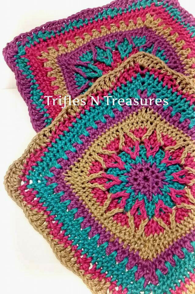 Starburst Crochet Granny Square | AllFreeCrochetAfghanPatterns.com