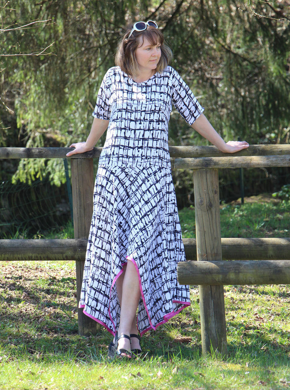 Handkerchief Hem Maxi Dress Pattern Allfreesewing Com