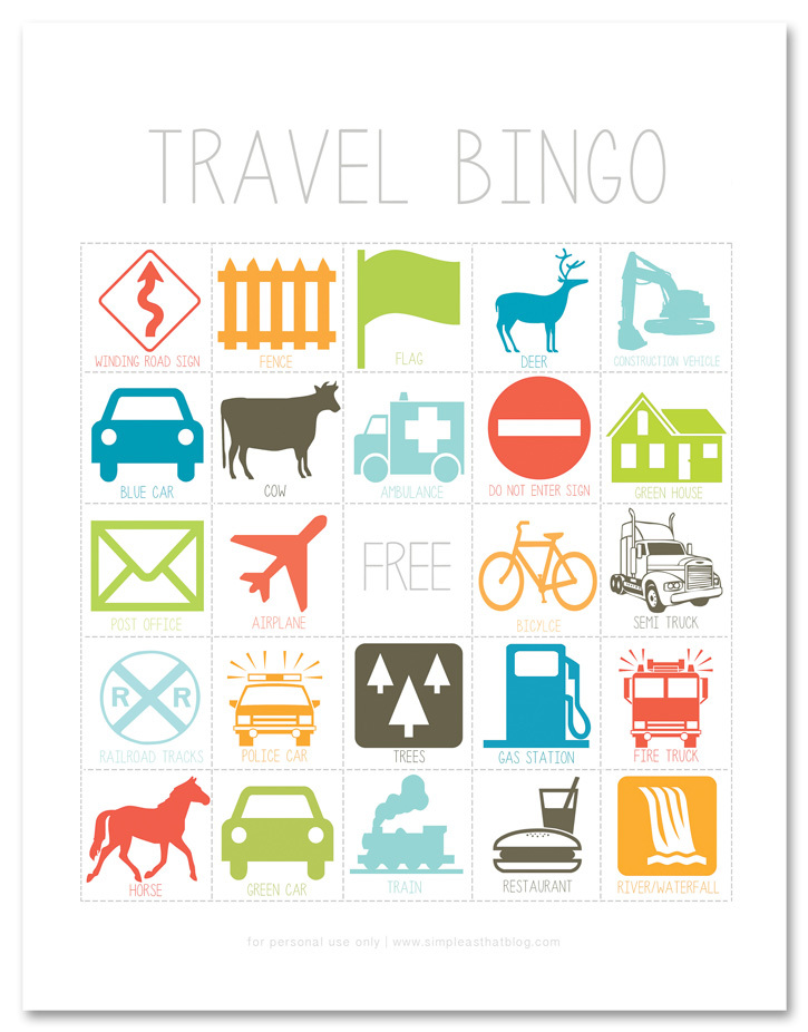 It is a graphic of Lively Traveling Bingo Cards