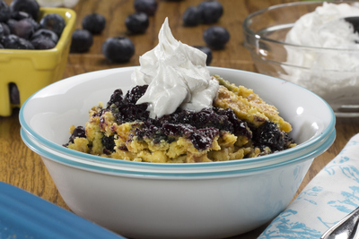 Citrus Berry Dump Cake