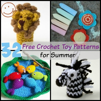 32 Free Crochet Toy Patterns for Summer