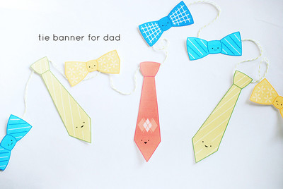All Tied Up Fathers Day Banner