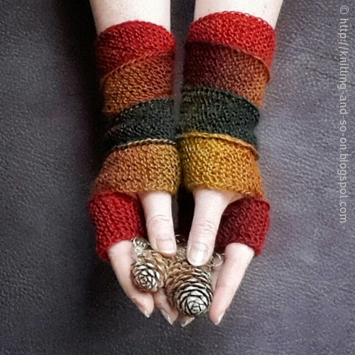 Helix Fingerless Gloves Knitting Pattern Favecrafts