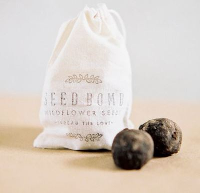 Bohemian Seed Bomb Wedding Favors