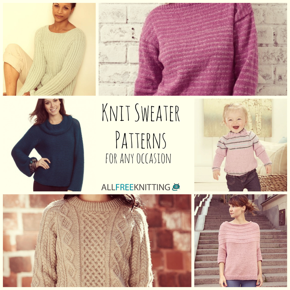 15 Knit Sweater Patterns for Any Occasion | AllFreeKnitting.com