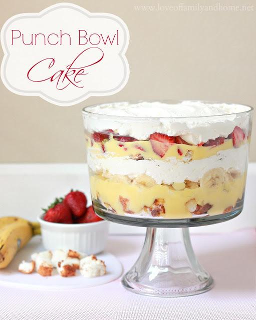 Punch Bowl Dessert Angel Food Cake
