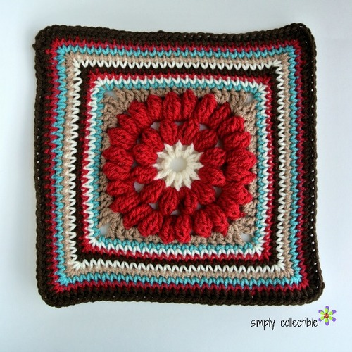 Whimsical Granny Square Flower Crochet Pattern