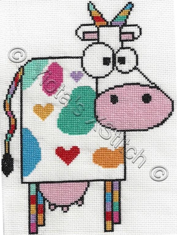 Funky Cow Cross Stitch Pattern Favecrafts Com