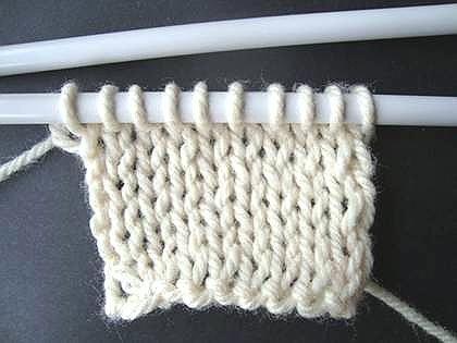 All Free Knitting Stitches : Knitting Tutorial: Knit Stitch AllFreeKnitting.com