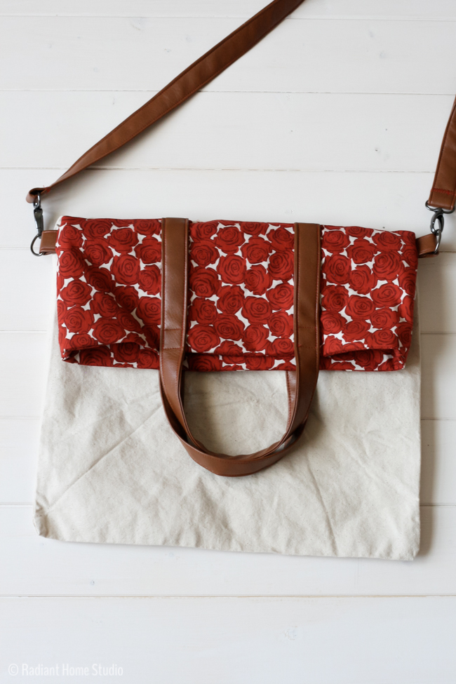Fold Over Tote Bag Pattern Allfreesewing Com