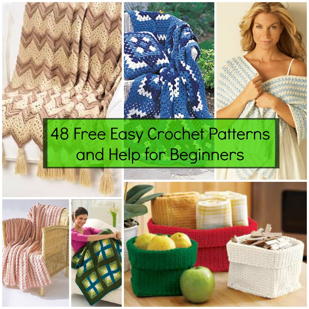 48 Free Easy Crochet Patterns And Help For Beginners