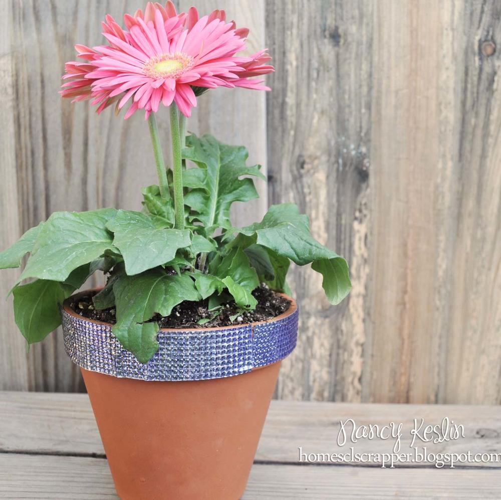 Rhinestone Flower Pot Craft Favecrafts Com