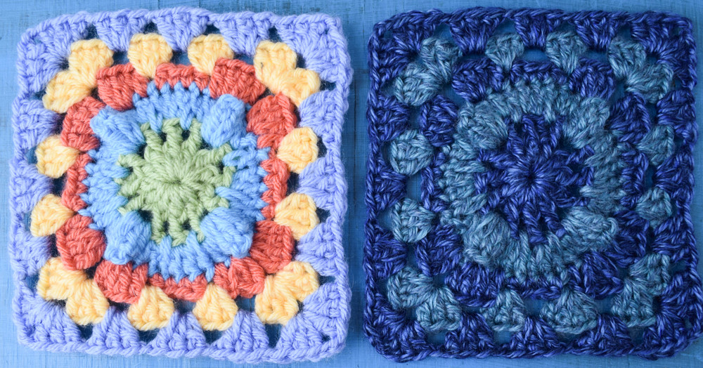 Amigurumi Popcorn Stitch : Bright Popcorn Crochet Granny Square AllFreeCrochet.com