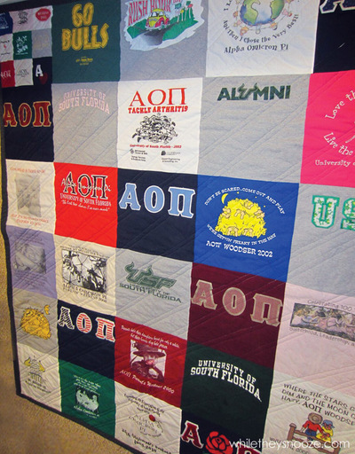 Fall T-shirt Quilt Directions