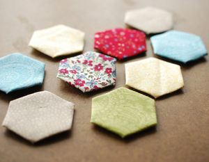 Hand Sewing Hexagons