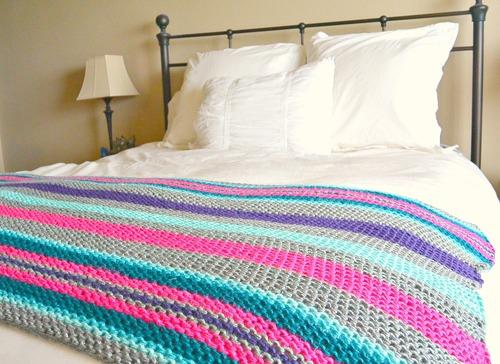 Native Stripes Knit Blanket Pattern | FaveCrafts.com