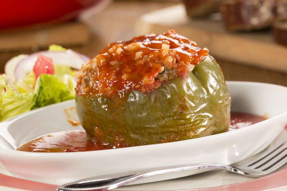Image result for stuffed peppers in tomato sauce