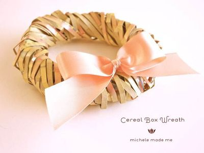 Cereal Box DIY Christmas Wreath
