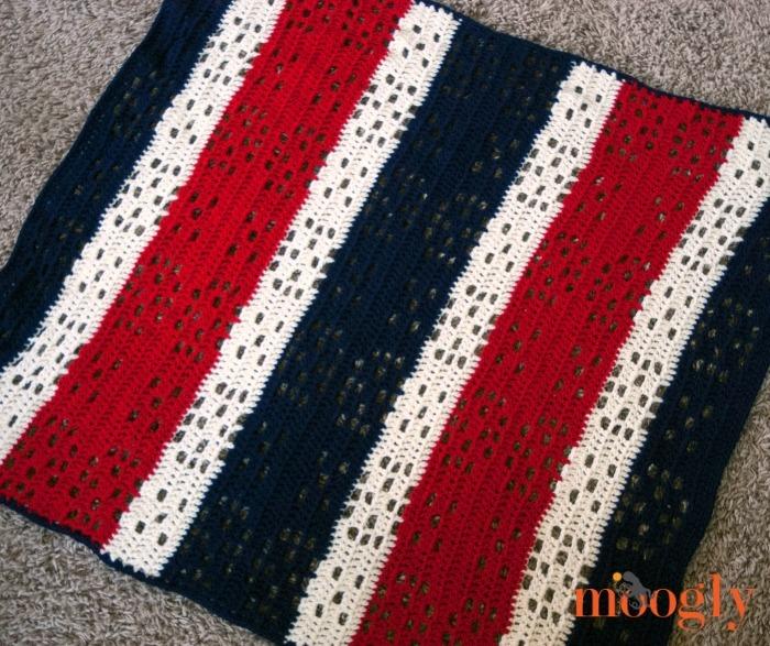 Patriotic Crochet Baby Blanket Allfreecrochet Com