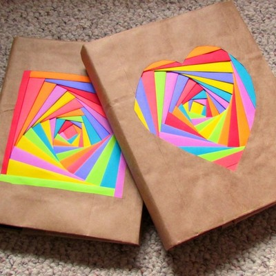 DIY Colorful Book Covers | AllFreePaperCrafts.com