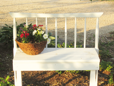 Simple Rustic Headboard Bench