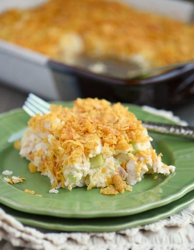 Easy Dump and Bake Chicken Casserole