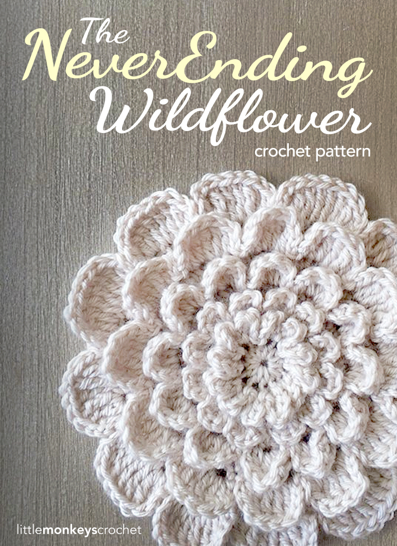 Crochet Flower Applique | AllFreeCrochet.com