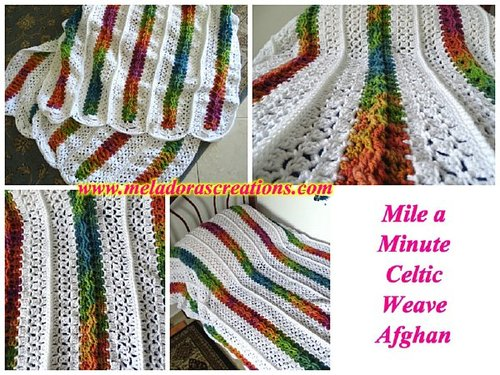 Mile a Minute Rainbow Crochet Afghan | AllFreeCrochet.com