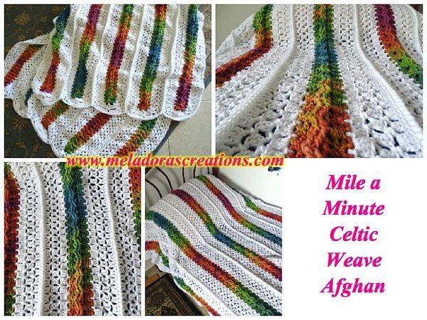 Mile A Minute Rainbow Crochet Afghan Allfreecrochet Com