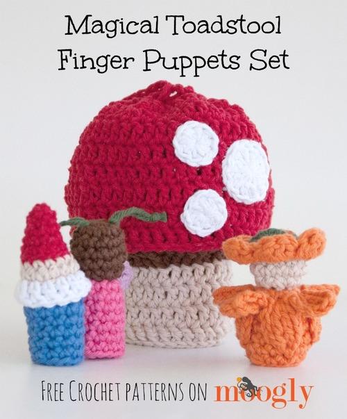Magic Toadstool Crochet Finger Puppets Allfreecrochet