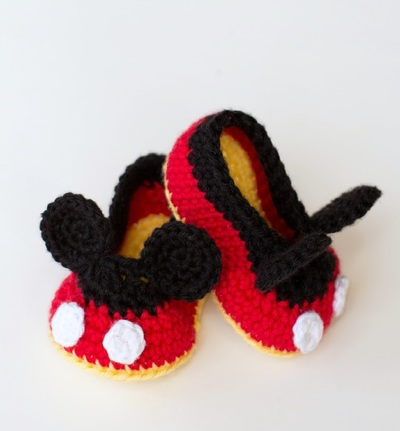 Mickey Mouse Crochet Baby Booties